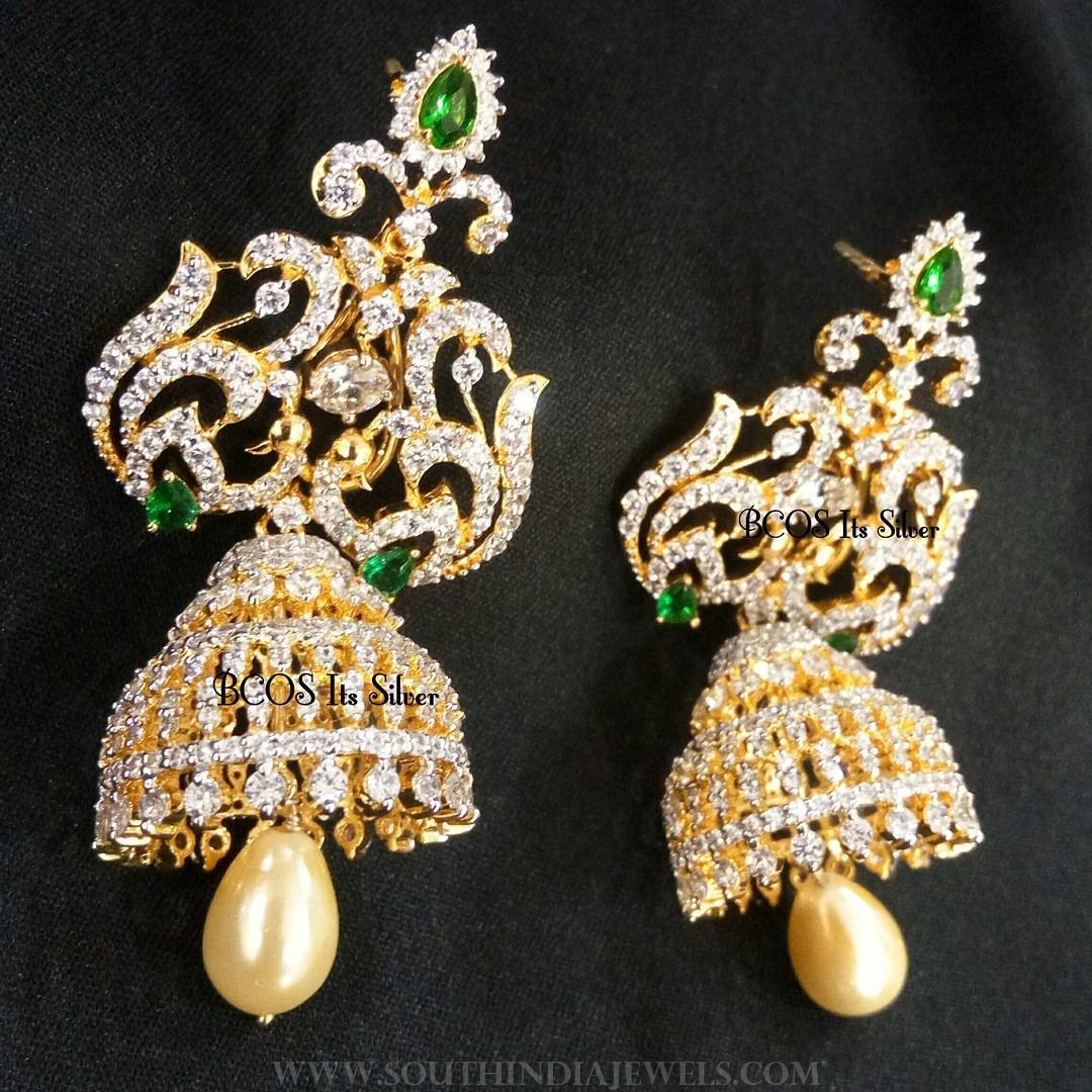 Gold Plated Stone Jhumka From BCOS Its Silver