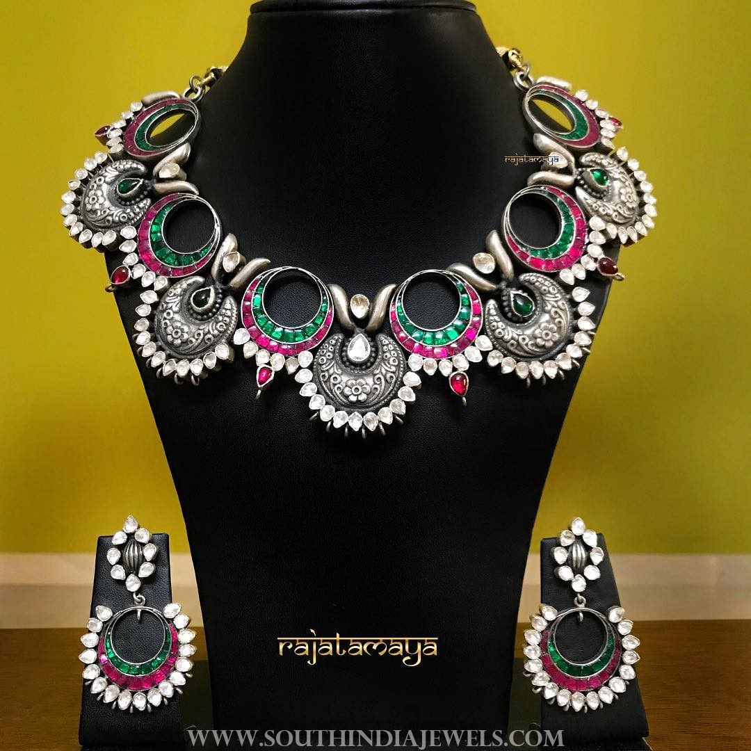 Silver Bridal Jewellery Set From Rajatamaya
