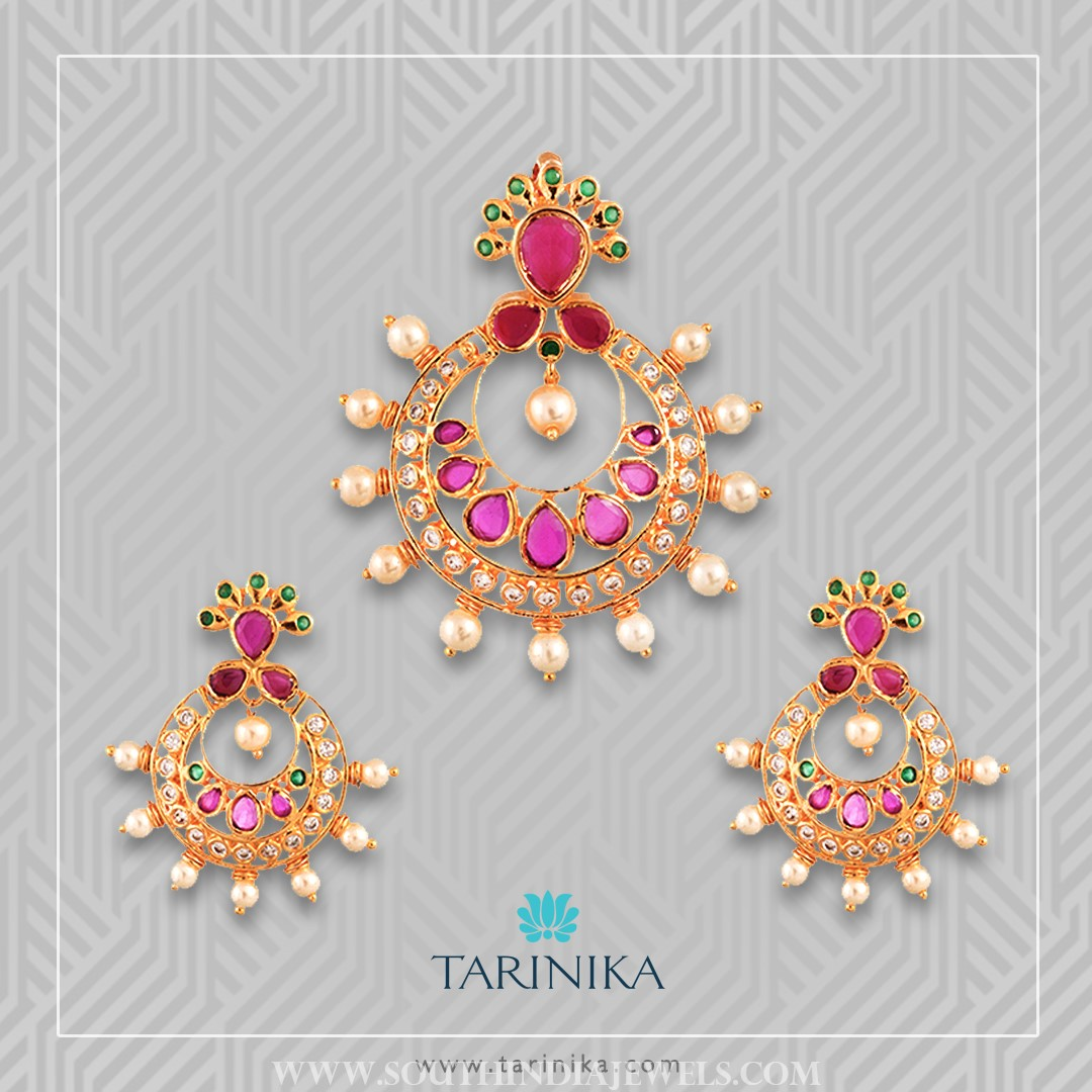 Gold Plated Pendant Set From Tarinika