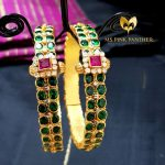 Gold Plated Emerald Bangle From Ms Pink Panther