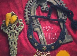 Black Thread Kemp Necklace From Aabharanam