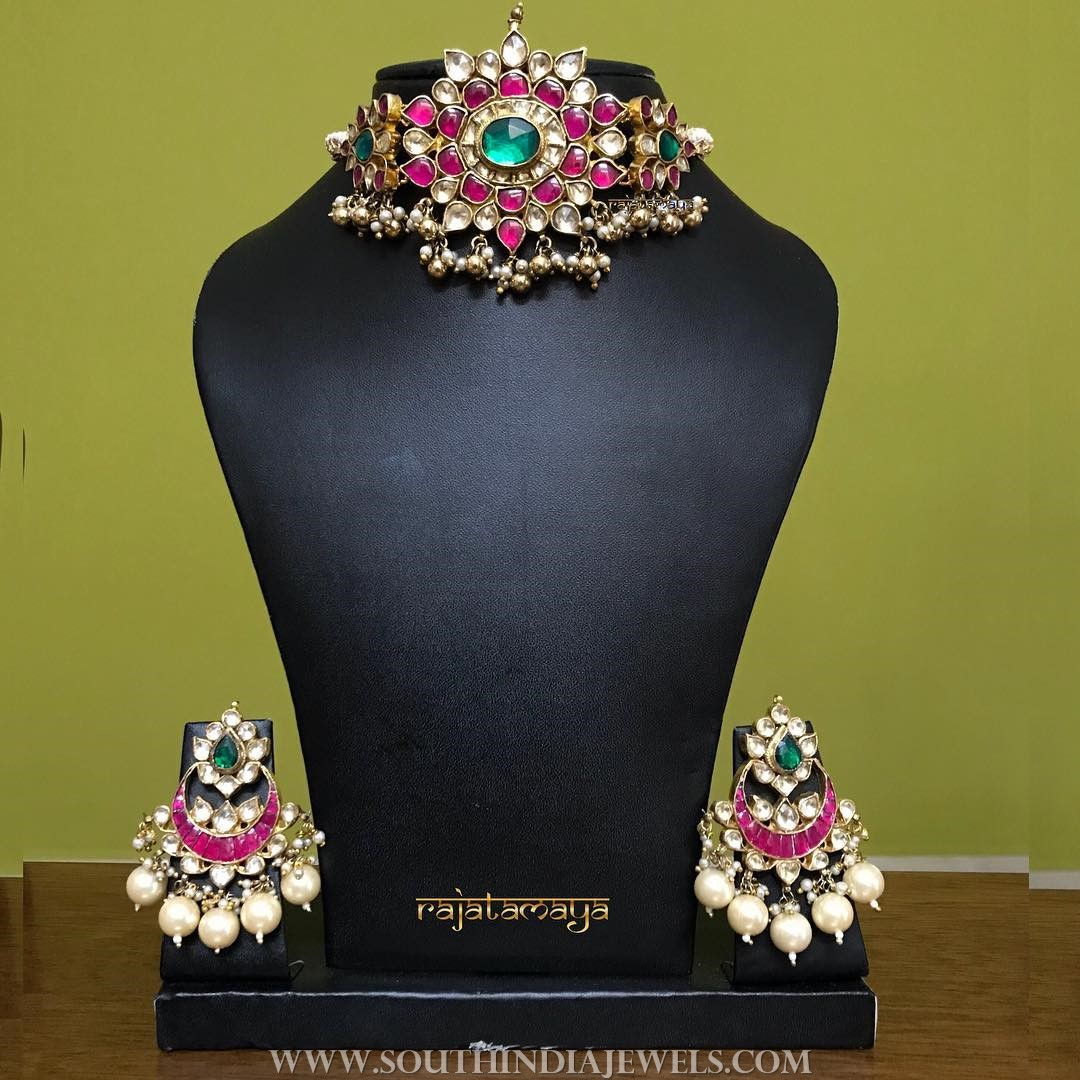 Bridal Kundan Choker Set from Rajatamaya
