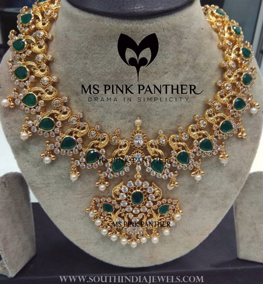 Gold Plated Emerald Necklace From Ms Pink Panthers