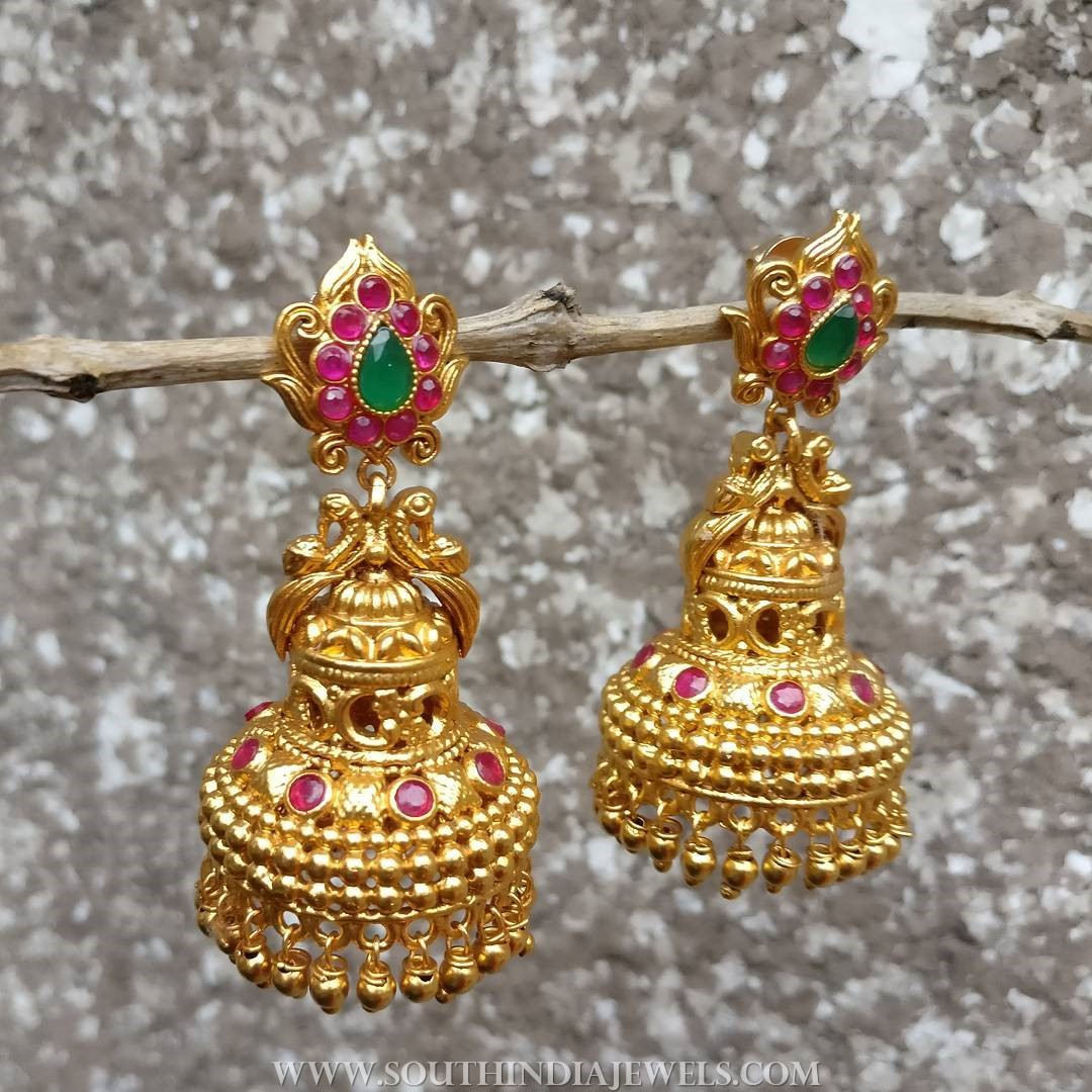 Gold Plated Jhumka From Rimli Boutique