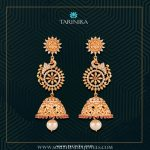 Gold Plated Peacock Jhumka From Tarinika