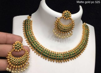 Green Choker Set From Alamkara