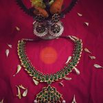 Green Kemp Necklace and Jhumka