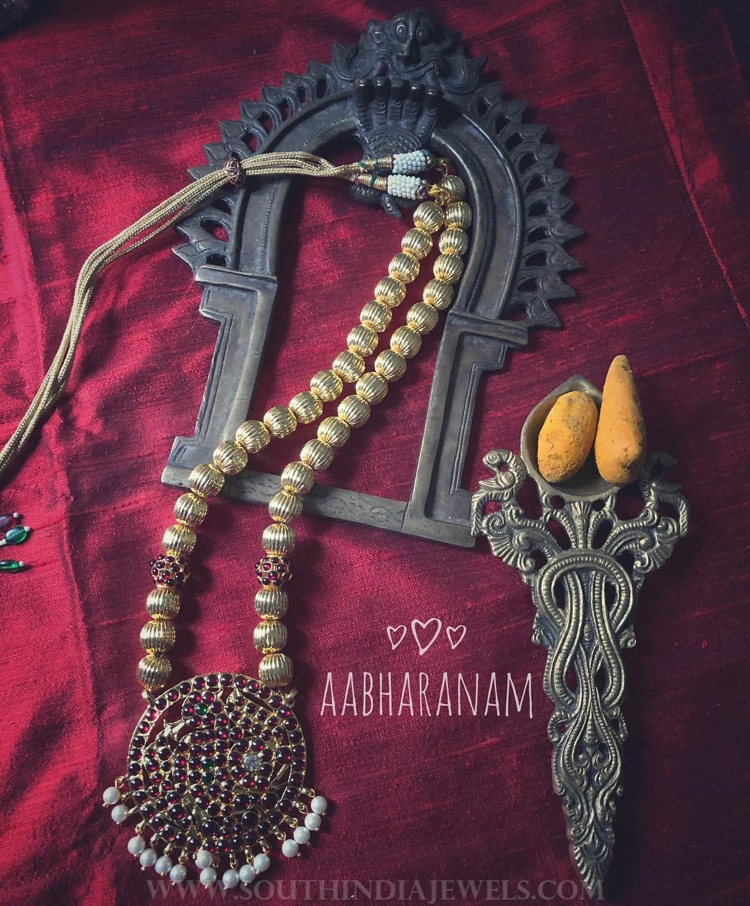 Beautiful Kemp Mala From Aabharanam