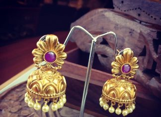 Simple Jhumka Design From Rimli Boutique