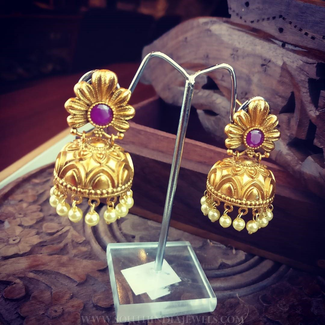 Simple Jhumka Design From Rimli Boutique