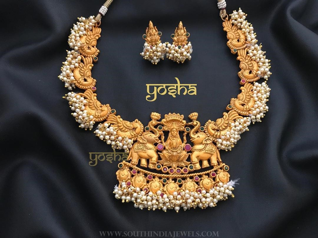 Pearl Temple Necklace From Yosha Creationz