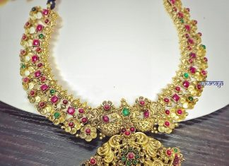 Antique Ruby Necklace From Rajatamaya