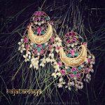 Bold Ruby Emerald Earrings From Rajatamaya