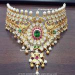 Bold Bridal Peacock Choker