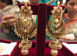 34 Grams Gold Jhumka From PSJ
