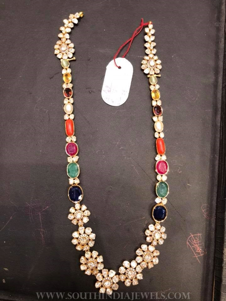62 Grams Gold Polki Necklace