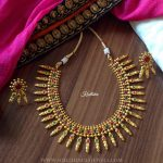 Beautiful One Gram Gold Spike Necklace Set