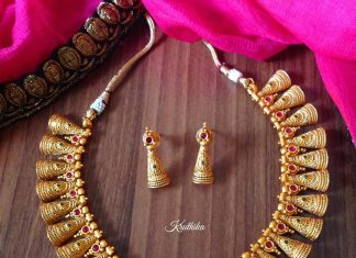 Bell Choker Set From Kruthika Jewellery