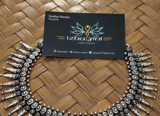 German silver spike necklace set Izhaiyini