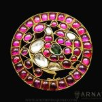 Gold Kemp Ruby Pendant From Arnav