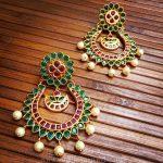 Ruby Emerald Chandbali From Rimli Boutique