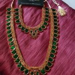 Imitation Kerala Style Mango Necklace Set From Izhaiyini
