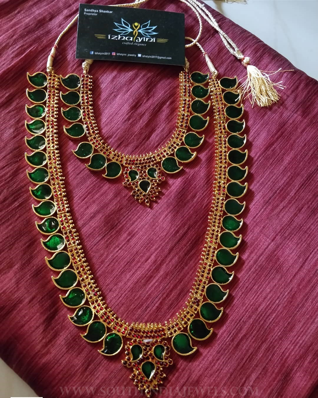 Imitation kerala style mango necklace set