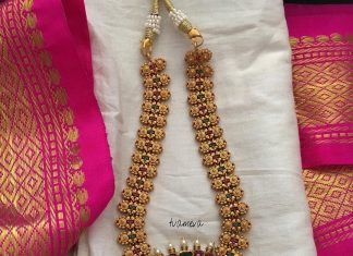 Medium Length Lakshmi Necklace Set