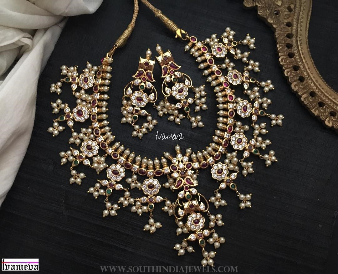 Pretty Guttapusalu Necklace Set From Tvameva