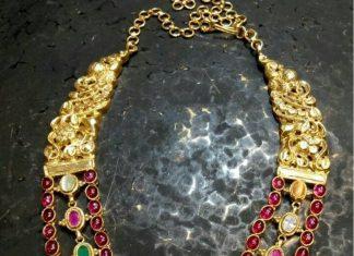 Ruby step necklace arnav