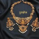 Gold Plated Stone Temple Set