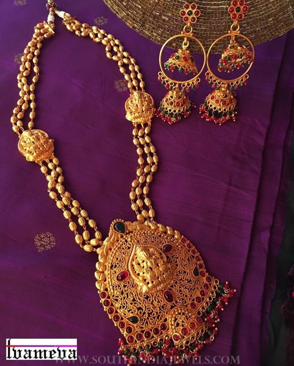 Antique Temple Necklace Set From Tvameva