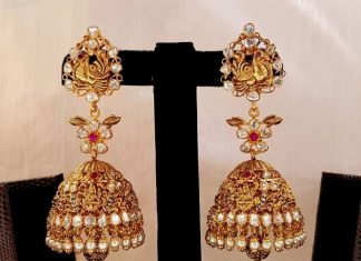 Antique Nakshi Jhumki From Mahalaxmi Jewellers
