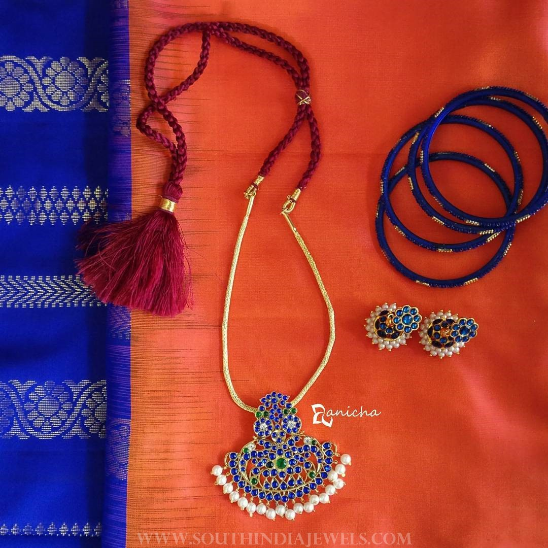 Blue Kemp Necklace Set From Anicha