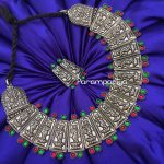 Bold Silver Choker Necklace From Parampariya