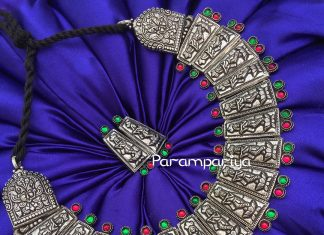 Bold Silver Choker Necklace from parampariya