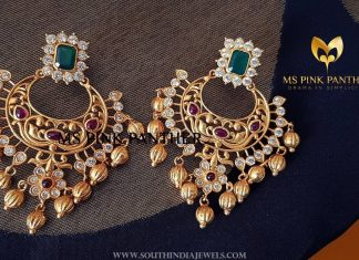 Pretty Gold Plated Earrings From Ms Pink Panthers
