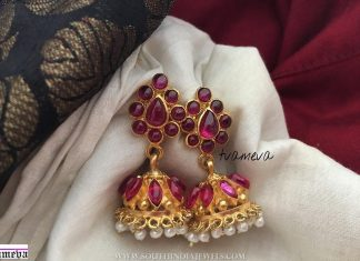 Gold plated ruby Jumka