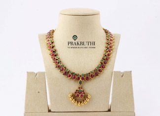 Gold Ruby Attigai From Prakruthi