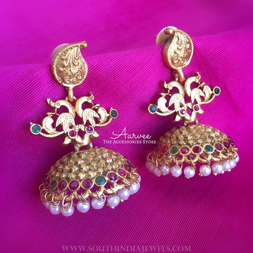 Imitation Antique Jhumka From Aarvee