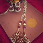 Imitation Pearl Kemp Long Necklace From Azhagi Beads