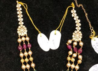 Multi Layer Pearl Haram With Side Locket