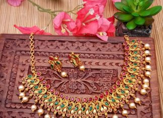 One Gram Gold Ruby Emerald Choker From Kimi Girl