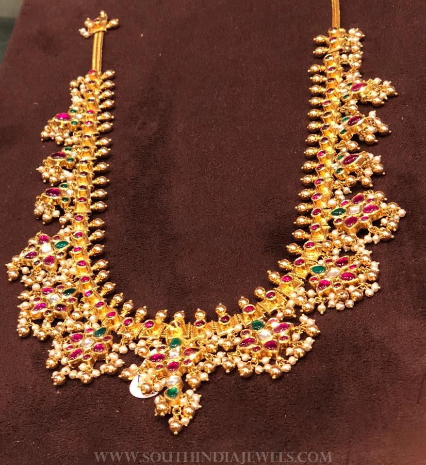 120-grams gold guttapusalu necklace from premraj