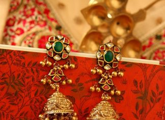 22k gold jhumka manubhai jewels