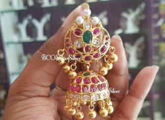 Beautiful gold plated silver jhumki bcos its silver