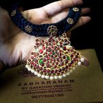Black Threaded Kemp Necklace From Abharanam