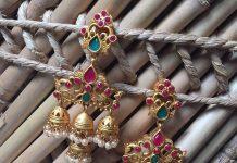 Bold Imitation Jhumka bead chicz
