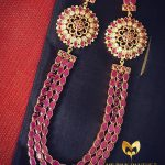 Bold Gold Plated Ruby Haram From Ms Pink Panthers