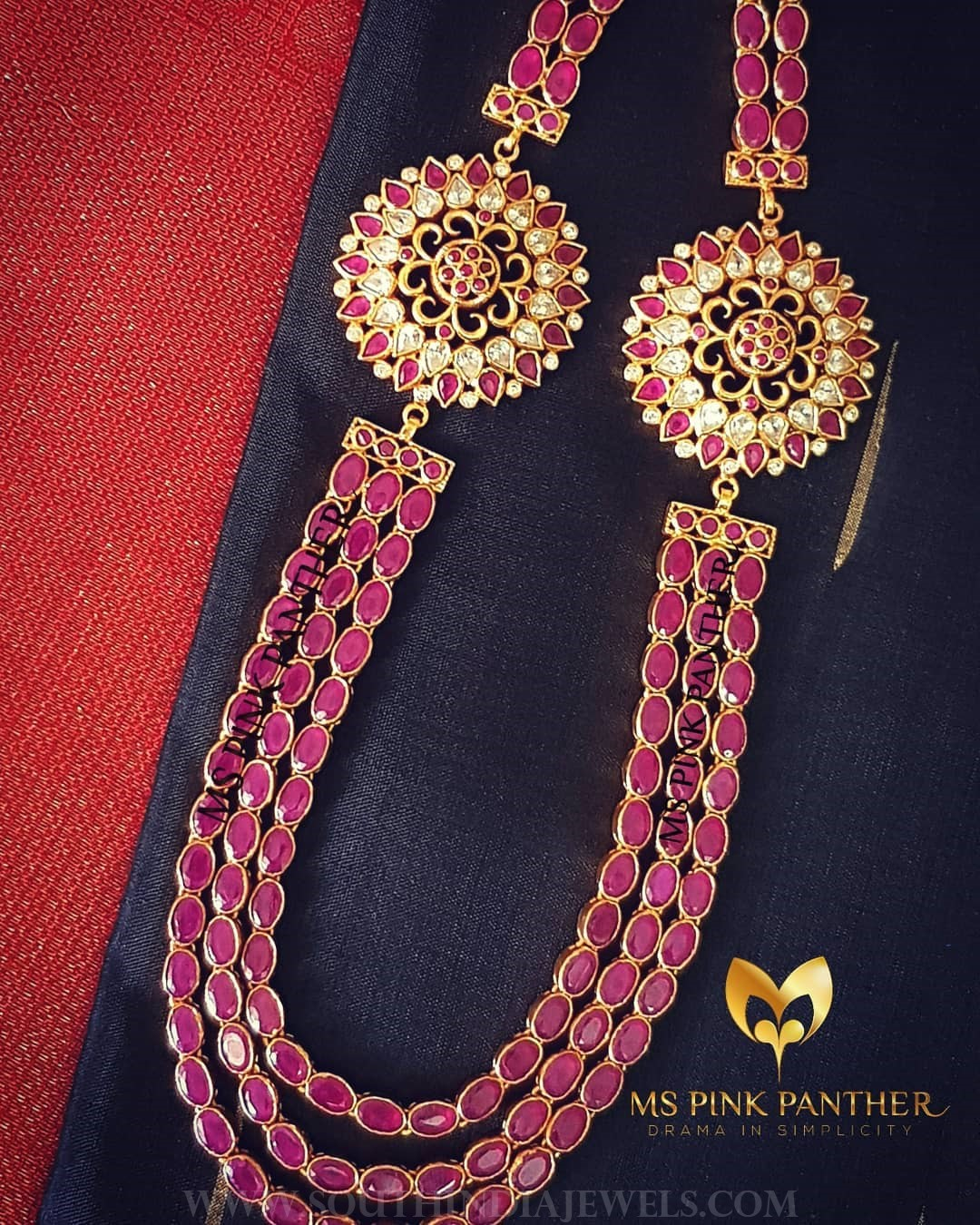 Bold gold plated ruby haram mspinkpantherjewel